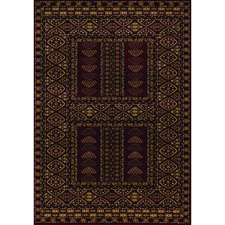 Vesta Maroon Traditional Rug (7'10 x 10'10)