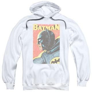 Batman Classic Tv/Vintman Adult Pull-Over Hoodie in White