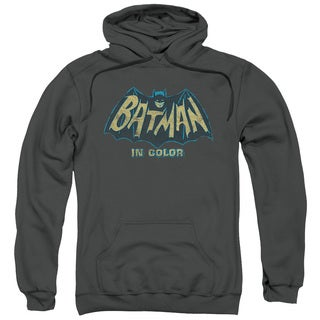 Batman Classic Tv/In Color Adult Pull-Over Hoodie in Charcoal