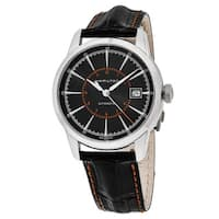 Hamilton Men's H40555731 'Timeless Class' Black Dial Black Leather Strap Railroad Swiss Automatic Watch