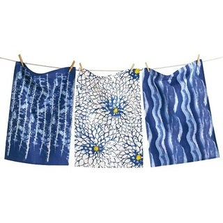 TAG Shibori Dishtowel Set of 3 Indigo