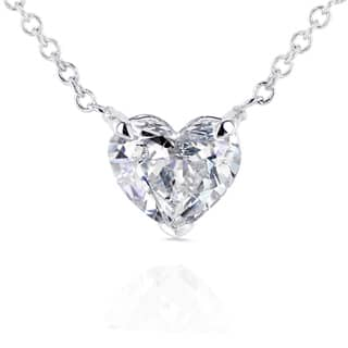 Annello by Kobelli 14k White Gold Floating Heart Certified 3/4ct Diamond Solitaire Necklace|https://ak1.ostkcdn.com/images/products/11843615/P18746389.jpg?impolicy=medium