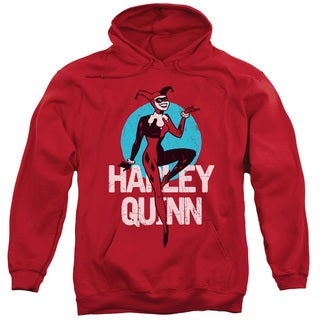 Batman The Animated Series/Smooth Adult Pull-Over Hoodie in Red