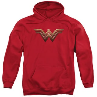 Batman V Superman/Ww Shield Adult Pull-Over Hoodie in Red