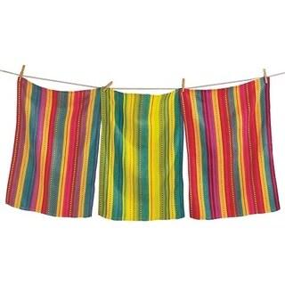 TAG Artisan Stripe Dishtowel Set of 3 Multi