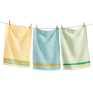 TAG Spring Jacquard Dishtowel Set of 3 Multi Pastel