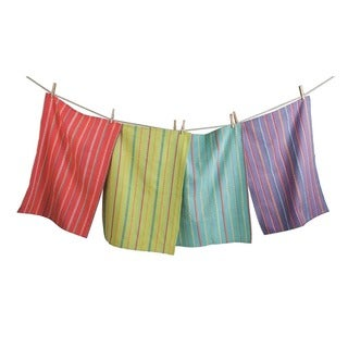 TAG Spring Stripe Dishtowel Set of 4 Multi