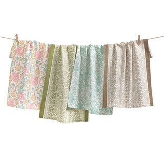 TAG Spring Floral Dishtowel Set of 4 Multi