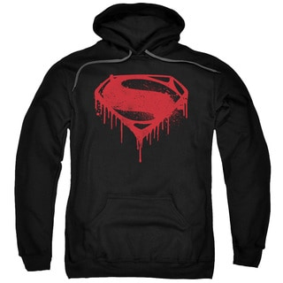 Batman V Superman/Splattered Adult Pull-Over Hoodie in Black