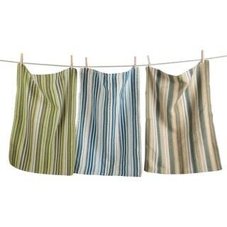 TAG Artisan Stripe Dishtowel Set of 3 Natural