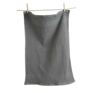 TAG Solid Terry Waffle Weave Dishtowel Set of 2 Gray