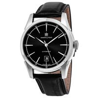 Hamilton Men's H42415731 'American Classic'  Black Dial Black Leather Spirit of Liberty Swiss Automatic Watch