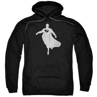 Batman V Superman/Superman Silhouette Adult Pull-Over Hoodie in Black