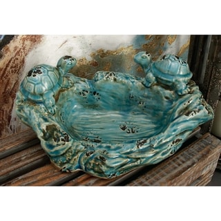 Blue Ceramic Turtle Bowl