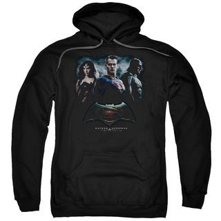 Batman V Superman/The Crew Adult Pull-Over Hoodie in Black