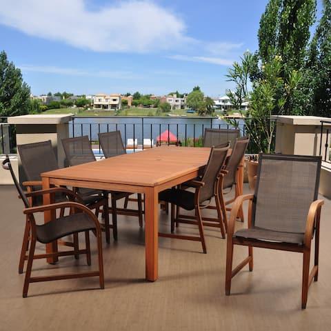 Amazonia Cosmopolitan Brown 9-piece Rectangular Patio Dining Set