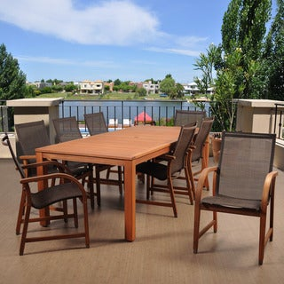 Amazonia Cosmopolitan Brown 9-piece Rectangular Patio Dining Set