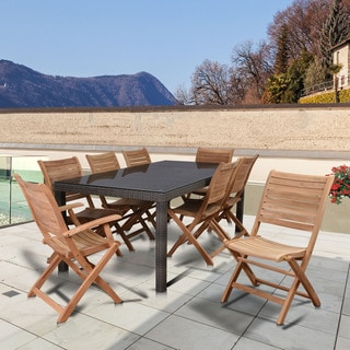 Amazonia Teak Bordeaux 9-piece Rectangular Patio Dining Set