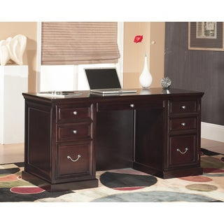 Forestville Space Saver Double-pedestal Desk