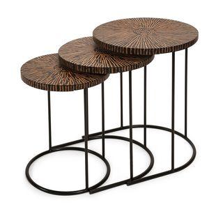 Hoki Coco Shell Tables - Set of 3