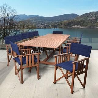 Amazonia Orlando Blue 13-piece Double-leaf Extendable Rectangular Patio Dining Set