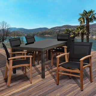 Amazonia Luna 7-piece Teak Rectangular Patio Dining Set