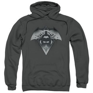 Batman V Superman/Fear Adult Pull-Over Hoodie in Charcoal