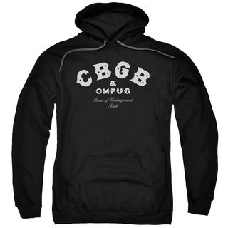 Cbgb/Classic Logo Adult Pull-Over Hoodie in Black