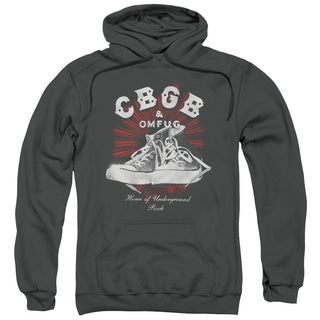 Cbgb/High Tops Adult Pull-Over Hoodie in Charcoal