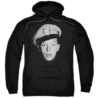 Andy Griffith/Barney Head Adult Pull-Over Hoodie in Black