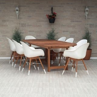 Amazonia Sunflower White 9-piece Extendable Oval Patio Dining Set|https://ak1.ostkcdn.com/images/products/11843956/P18746661.jpg?impolicy=medium