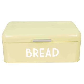 Off-white Powder-coated Steel Breadbox