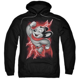 Mighty Mouse/Mighty Storm Adult Pull-Over Hoodie in Black