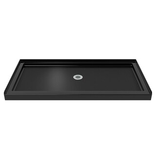 DreamLine SlimLine 30 in. by 60 in. Single Threshold Shower Base in Black Finish