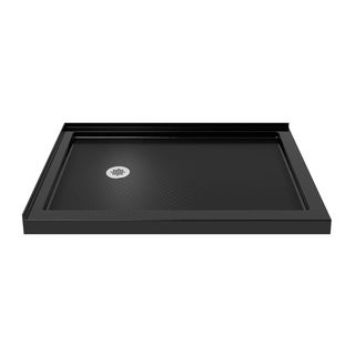 DreamLine SlimLine 36 in. by 60 in. Double Threshold Shower Base in Black Finish