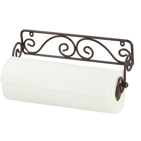 Sweet Home Collection Bronze Wall-mounted Paper Towel Holder