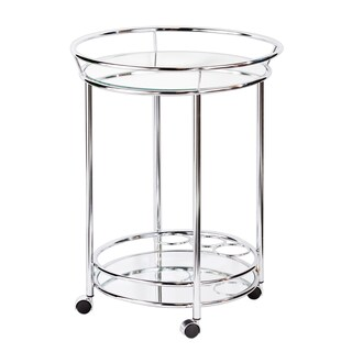 The Curated Nomad Belize Chrome Bar Cart