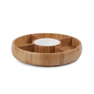 Sweet Home Collection All-natural Bamboo Chip and Dip Bowl Set