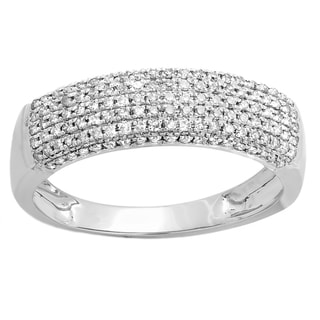 Elora 14k White Gold 2/5ct TDW Round Diamond Anniversary Wedding Band Ring (H-I, I1-I2)