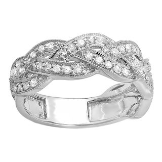 14k White Gold 5/8ct TDW Round Diamond Anniversary Wedding Ring (H-I, I1-I2)