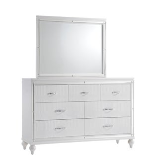 Picket House Vice Dresser & Mirror in White