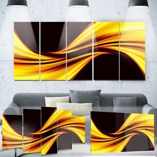 Designart 'Mellow Yellow Harmony Abstract' Metal Wall Art