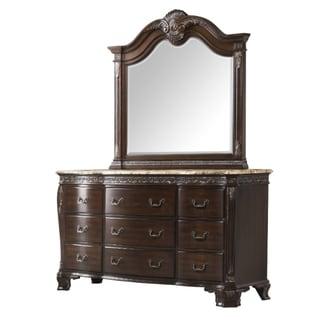 Picket House Victoria Marble Top Dresser & Mirror