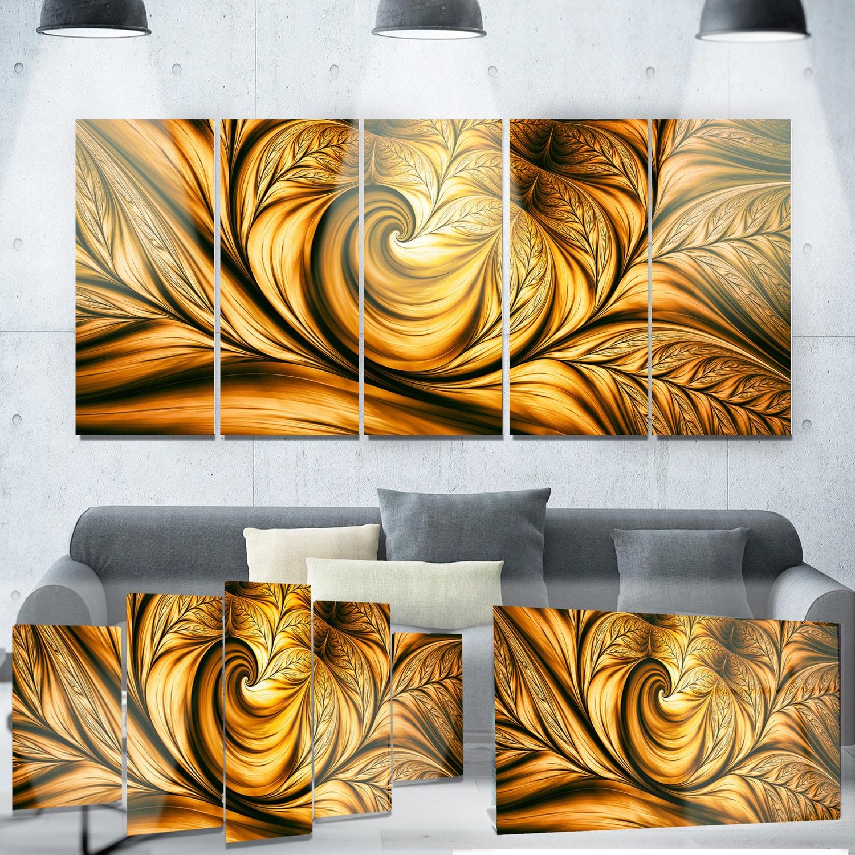 Designart 'Golden Dream Abstract' Metal Wall Art Small | eBay