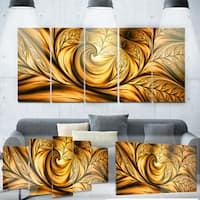 Designart 'Golden Dream Abstract' Metal Wall Art