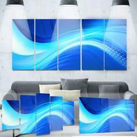 Designart 'Blue Hues Abstract' Metal Wall Art