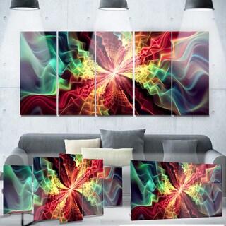 Designart 'Hypnotize Abstract' Metal Wall Art
