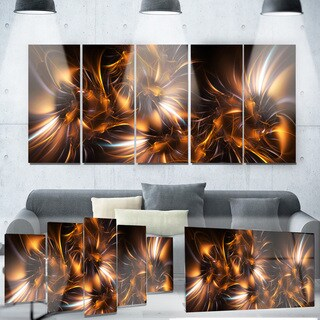 Designart 'Silver and Gold Stars' Metal Wall Art