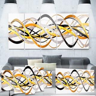 Designart 'Gold and Silver Helix' Metal Wall Art