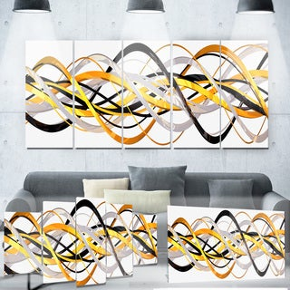 Designart 'Gold and Silver Helix' Metal Wall Art